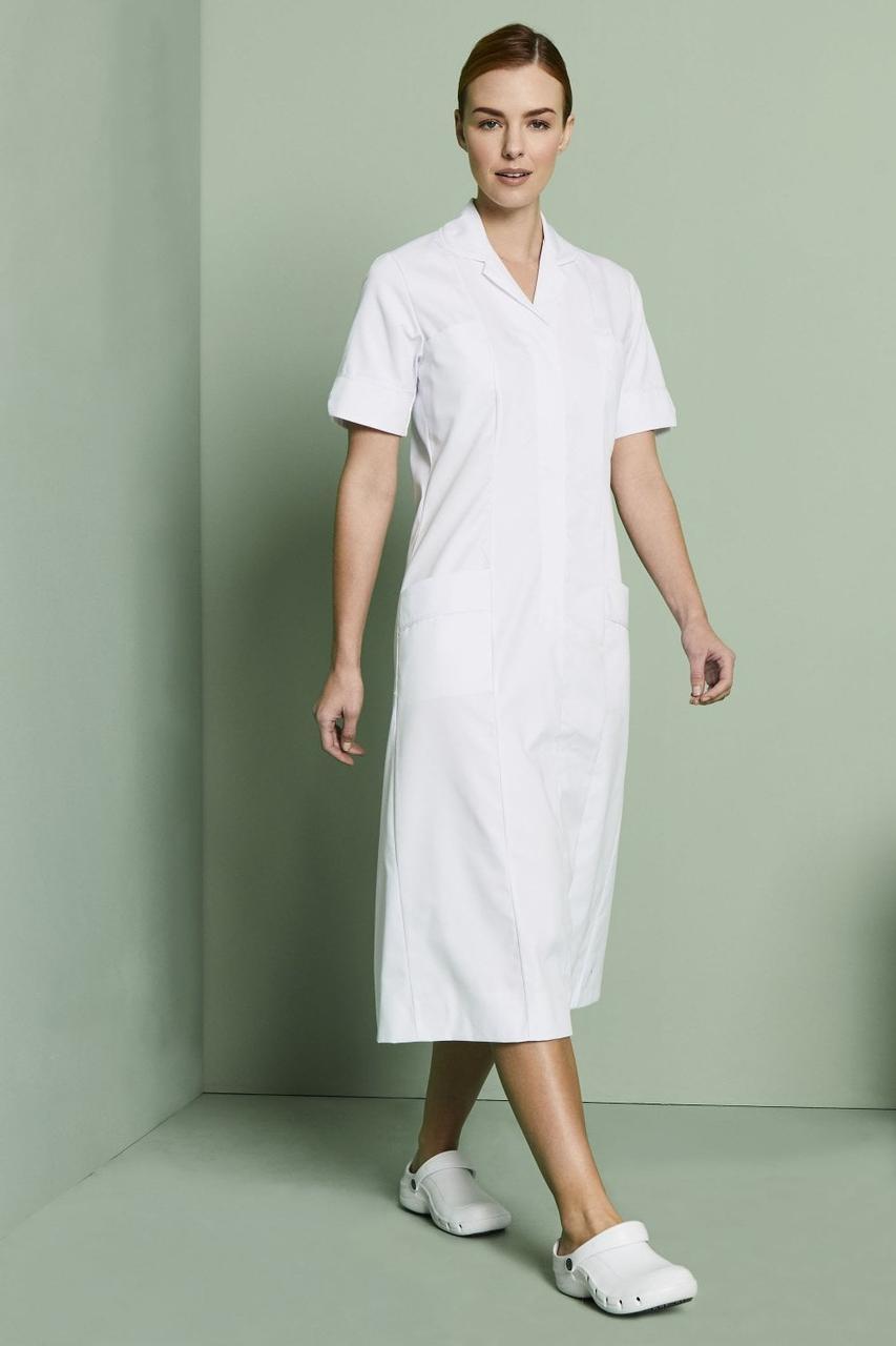 Медичний халат жіночий білий - 03405