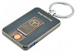 Спиральная электрическая USB зажигалка UKC 811 Mercedes Benz черный, фото 2
