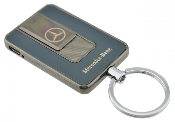 Спиральная электрическая USB зажигалка UKC 811 Mercedes Benz черный