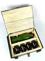 Бойовий резерв - пляшка міна та чарки у дерев'яному ящику