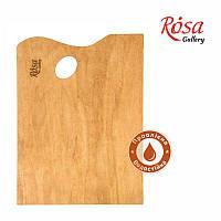 Палитра деревянная, под этюдники французского типа, прямоугольная, промасленная, 38,5х28,5 см, ROSA Gallery