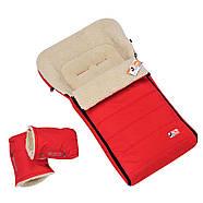 Конверт Чехол на овчине красный в коляску санки 92*42 см MINI (For Kids), фото 2