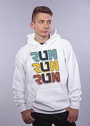 """Толстовка белая LOYS """"Run Run Run"""" XXL"""