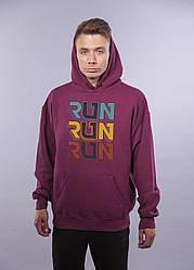 """Толстовка Бордовая LOYS """"Run Run Run"""" XXL"""