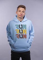 "Толстовка Голубая LOYS ""Run Run Run"" XXL"