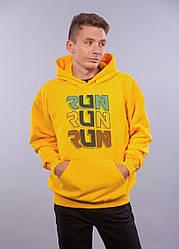 """Толстовка жёлтая LOYS """"Run Run Run"""" XXL"""