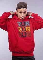 """Толстовка Красная LOYS """"Run Run Run"""" XXL"""