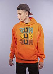 "Толстовка Оранжевая LOYS ""Run Run Run"" XXL"
