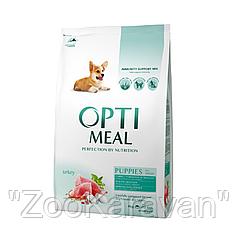 Сухой корм для щенков всех пород Opti Meal c индейкой 2,5 кг