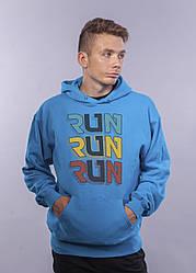 """Толстовка Ультрамарин LOYS """"Run Run Run"""" XXL"""