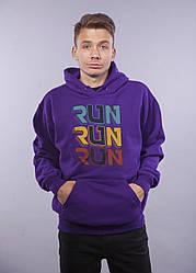"Толстовка Фиолетовая LOYS ""Run Run Run"" XXL"