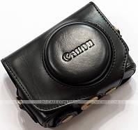 Кожаный чехол для фотоаппарата Canon PowerShot G7 X Black