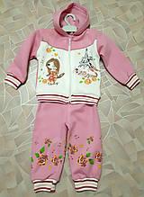 Костюм трикотажный на байке для девочки (1-3 года)