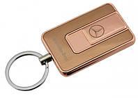 Спиральная электрическая USB зажигалка UKC 811 Mercedes Benz золотой, фото 1