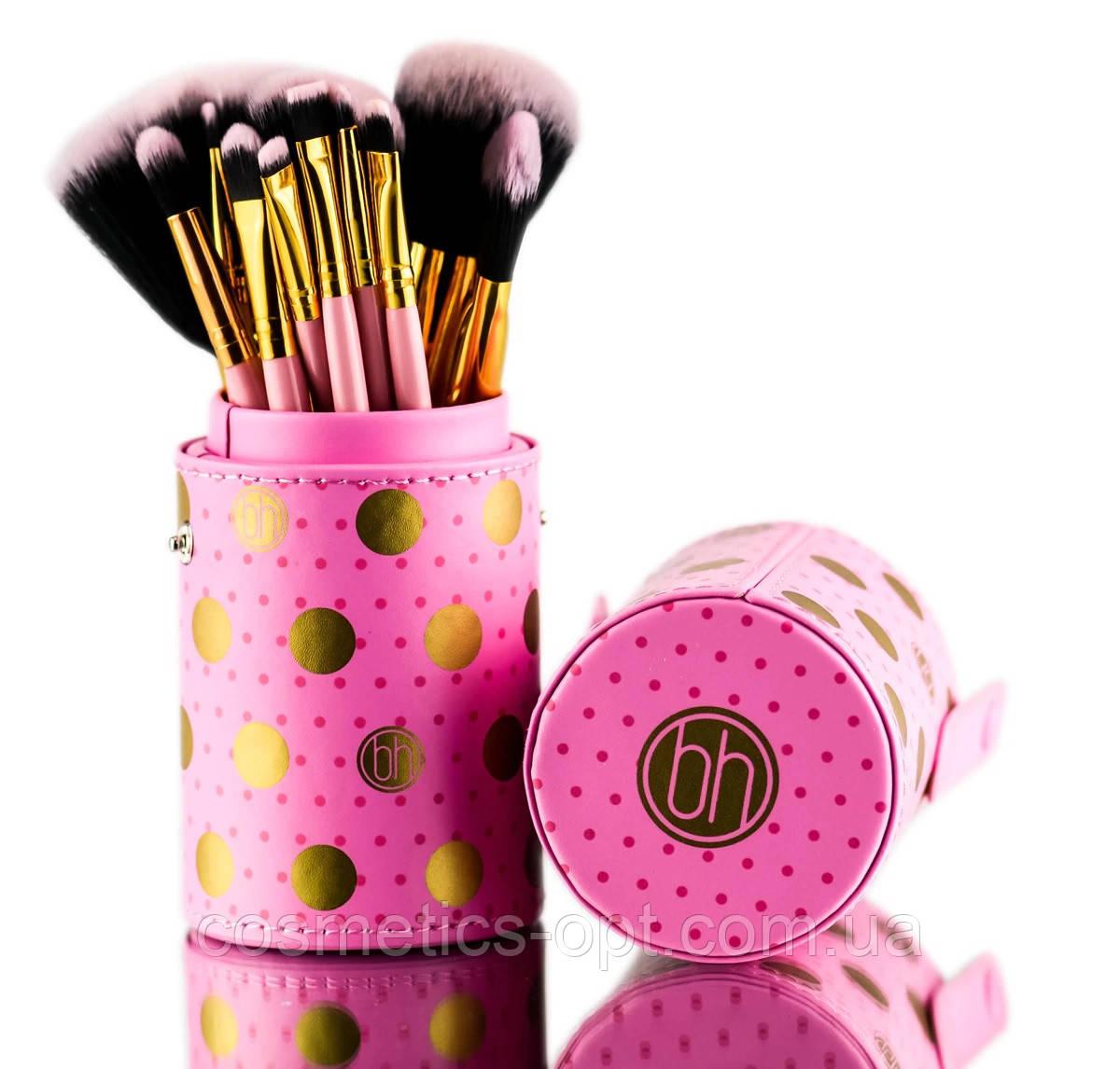 Кисти для макияжа в тубусе BH Cosmetics Dot Collection , 11 шт