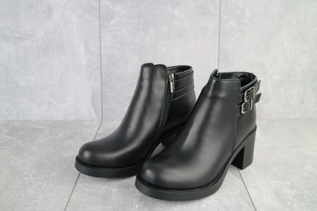 Женские зимние низкие ботинки из натуральной кожи