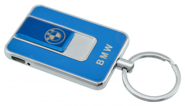 Спиральная электрическая USB зажигалка UKC 811 BMW синий