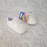 Белые лаковые пинетки,туфли оксфорд, фото 1