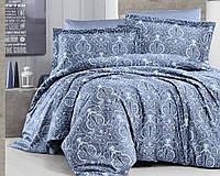 Постельное белье First Choice 200х220 сатин люкс Delmor indigo