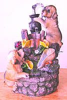 Фонтан декоративный комнатный настольный садовый домашний собаки 2