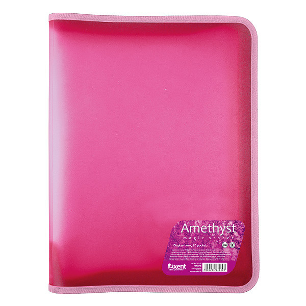 Папка на молнии Axent Amethyst А4+ сиреневая