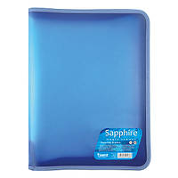 Папка на молнии Axent Sapphire А4+ голубая