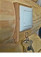 Накладка на бревно и блокхаус для монтажа розеток и выключателей