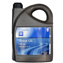 Моторное масло GM Genuine Semi Synthetic 10w40 5л