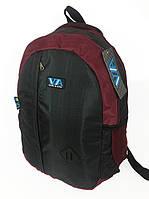 Рюкзак школьный VA R-69-126, черный-бордо