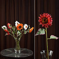 Хризантема темно-красная искусственная, 57см
