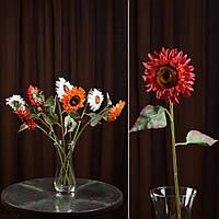 Искусственный цветок 57 см хризантема темно-красная (43914.003)