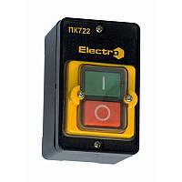 Пост кнопка ПК722-2  10A  230/400B   ЗАХИСТ  IP54 (1 червона, 1 зелена  N0+NC)  ElectrO (шт.)