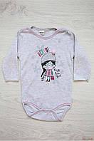Боди серого цвета на длинный рукав для маленькой девочки (86 см.)  Twetoon 2125000619873