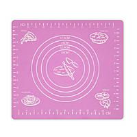 Коврик-подложка для раскатывания теста, 29*26 см, розовый, Кондитерские принадлежности