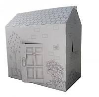 Картонный домик-раскраска, Рисование