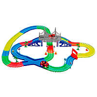 Детская игрушечная дорога Magic Tracks 360 деталей + 2 машинки Mega Set, Автомобильные треки, Автомобільні треки, Дитяча іграшкова залізниця Magic