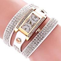 Часы-браслет со стразами, белый, Наручные часы, Наручний годинник, Годинник-браслет зі стразами, білий