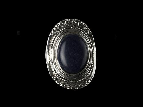 Модный перстень для женщин с синим Авантюрином
