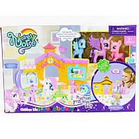 Домик My Little Pony OSB8032 с горкой,фигурки,столик,аксессуары в кор. 39*8*25,5cм