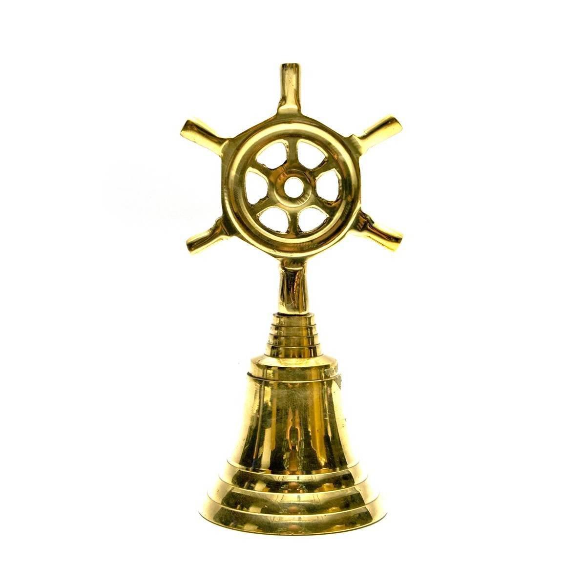Колокольчик со штурвалом бронзовый