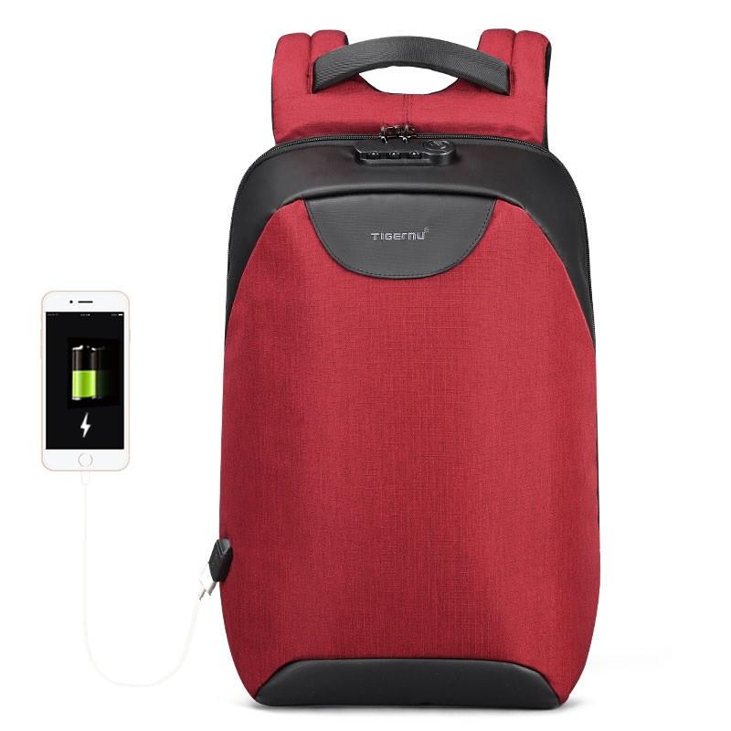 Рюкзак городской Tigernu T-B3611 USB Красный