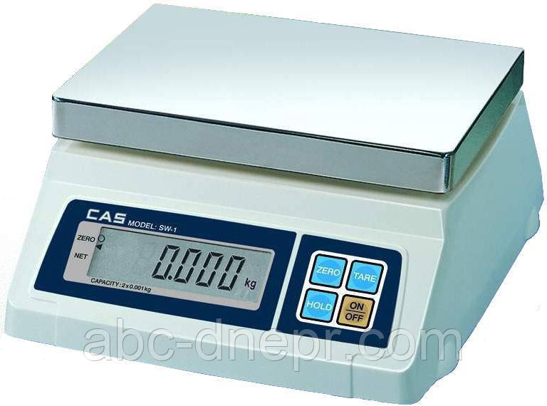 Ваги настільні CAS SW (2, 5, 10, 20 кг)