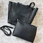Женская сумка c косметичкой черная  (1892-1), фото 7