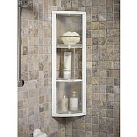 Угловой шкафчик Primanova, 3 вращающиеся полки (прозрачные), 15*66 см
