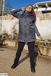 Женская жилетка безрукавка жилет плащевка 52 54 56 58 размеры Новинка