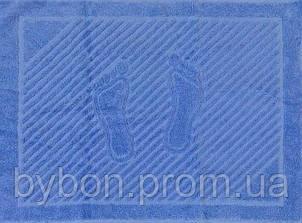 ТМ TAG Полотенце махровое для ног голубое