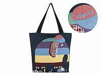 Женская сумка новая коллекция Слоник полосатый Тотэ Флакс