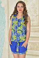Костюм рубашка и шорты в 2х цветах КЛЕР