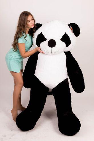 Плюшевый мишка Панда 200 см Черно-белый