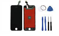 Дисплейный модуль (дисплей + сенсор) iPhone 5s/ SE  (черный) + набор для замены модуля .